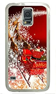 Santa Claus Driving Deer Car Samsung Galaxy S5 Transparent Sides Hard Shell Case by Sakuraelieechyan by Maris's Diary