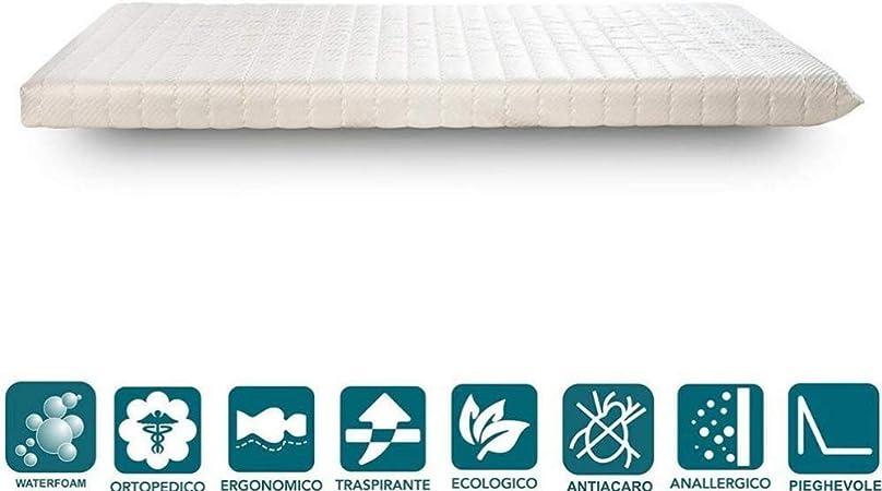 Materasso Per Brandina Pieghevole.Evergreenweb Materasso Singolo 80x190 In Waterfoam Ecologico