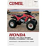 Clymer Honda TRX250X 1987-1992/ TRX300EX Fourtrax & Sportrax 1993-2006 (Clymer Motorcycle Repair) 4th (fourth) edition published by Clymer Pubns (2009) [Paperback]