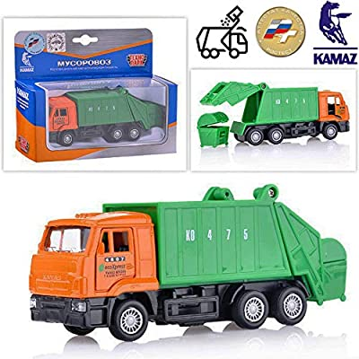 Russian Garbage Truck Dustcart Kamaz Model Toy: Toys & Games