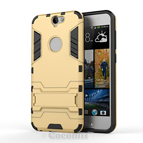 HTC One A9 Case, Cocomii Iron Man Armor NEW [Heavy Duty] Premium Tactical Grip Kickstand Shockproof Hard Bumper Shell [Military Defender] Full Body Dual Layer Rugged Cover (Gold)