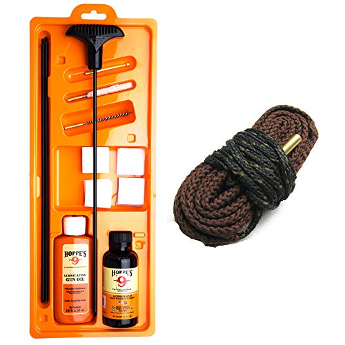 Westlake Market, Hoppes Deluxe 17 Caliber Gun Cleaning Kit Plus Snake for Cleaning Your .17 HMR Rifle - Sold in America, Ships from America
