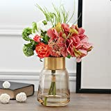 Contemporary French Style Emulation Flower Overall Floral Art Glass Vases Kit Ornaments Creative Home Decor Flower
