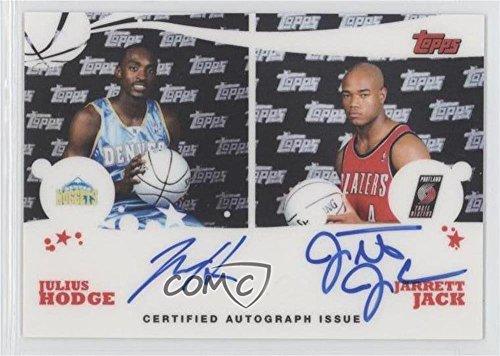 (Julius Hodge; Jarrett Jack (Basketball Card) 2005-06 Topps - Rookie Photos Shoot Dual Autographs #RSD-HJ)