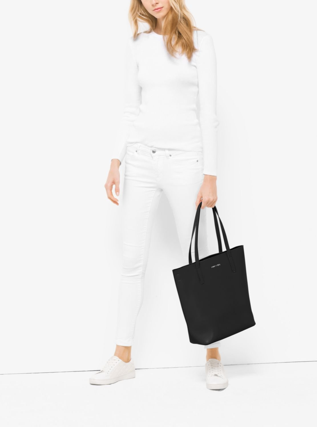 NEW AUTHENTIC MICHAEL KORS LARGE EMRY LEATHER TOTE BUSINESS BAG (Black) by Michael Kors (Image #3)