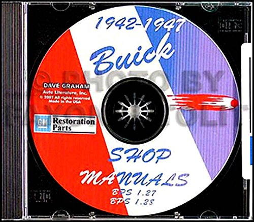 A MUST FOR OWNERS, MECHANICS & RESTORERS - THE 1942 1946 1947 BUICK REPAIR SHOP & SERVICE MANUAL & FISHER BODY MANUAL CD COVERS Series 40 Special, Series 50 Super, & Series 70 Roadmaster, 1942 Series 60 Century & Series 90 Limited