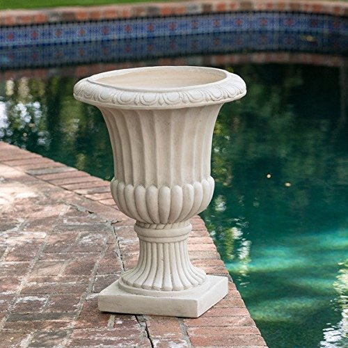 Planter Depot - Stone Christopher Knight Home Antique White Italian 26-inch Urn Planter
