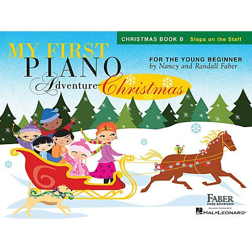 My First Piano Adventure Christmas - Book B Faber Piano Adventures by Nancy Faber (Level Early Elem)- Pack of 3