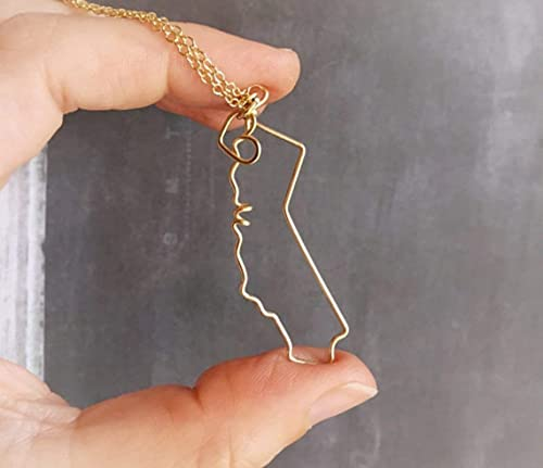 California State Outline Necklace
