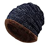 GzxtLTX Beanies Hat Fleece Lined Thick Slouchy Stretch Knitted Warmer Winter Skull Cap Unisex Women Men