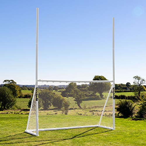 Net World Sports Forza Football/Soccer Combination Goal Posts | PVC Portable Football Goal Posts for The Backyard | Forza Soccer Goals (12ft x 6ft)