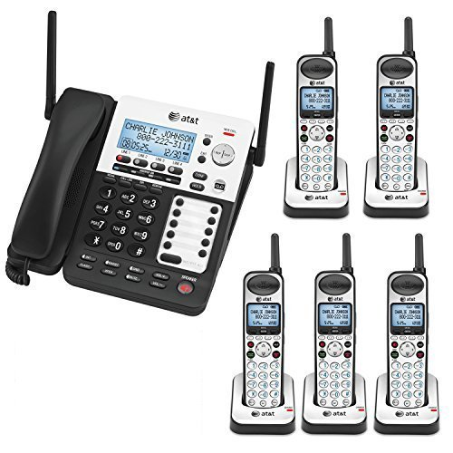 AT&T SB67118 / SB67138 4-Line Corded-Cordless Phone System w/ 5 SB67108 Handsets Bundle (Business System Cordless)