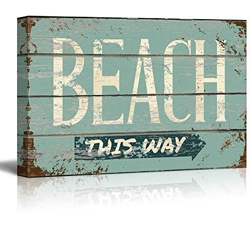 Rustic Directional Beach Sign