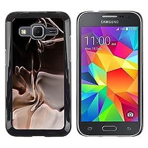 Caucho caso de Shell duro de la cubierta de accesorios de protección BY RAYDREAMMM - Samsung Galaxy Core Prime SM-G360 - Abstract