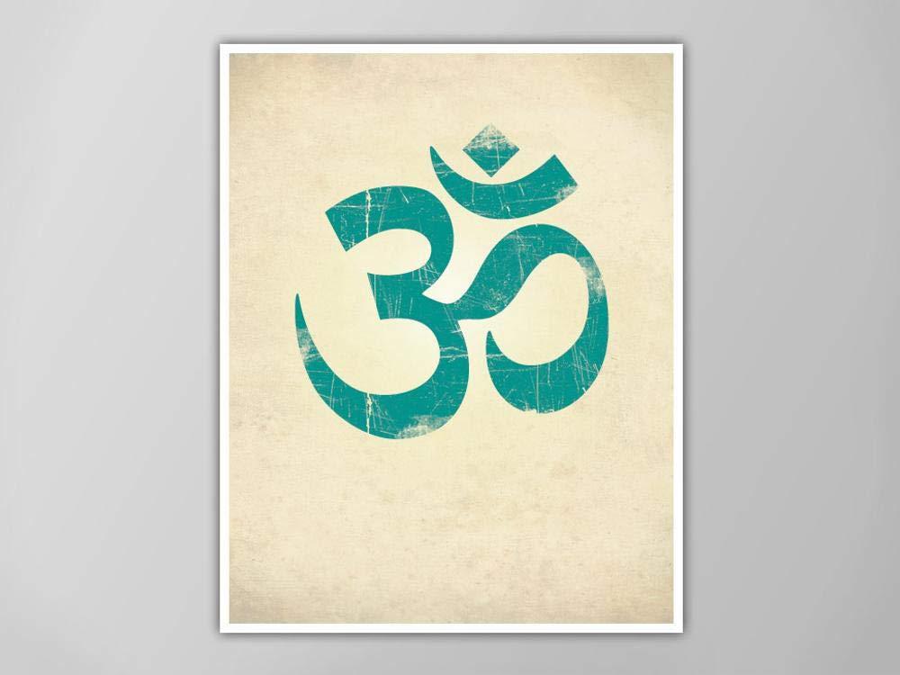 Amazon.com: bestposterartcom Om Symbol Print, Yoga Art Print ...