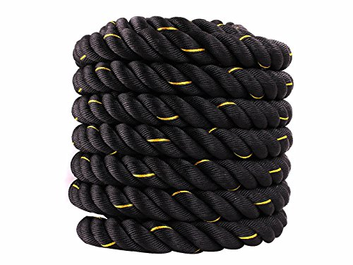 Battle Rope Training Undulation Extremely Workout Stamina for Gain Lean Muscle by DTOFREE