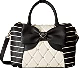 Betsey Johnson Women's E/W Winged Satchel Cream/Black One Size