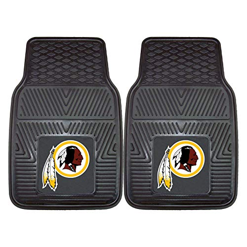 Sports Licensing Solutions LLC NFL 2-Piece Heavy-Duty Vinyl Car Mat Set, Washington Redskins #22441408 ()