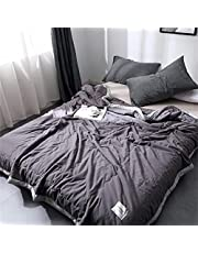 Sooupowly Twin Cooling Comforter Lightweight All Season Double Sided Bed Comforter Machine Washable Ultra-Soft & Breathable Microfiber Fill
