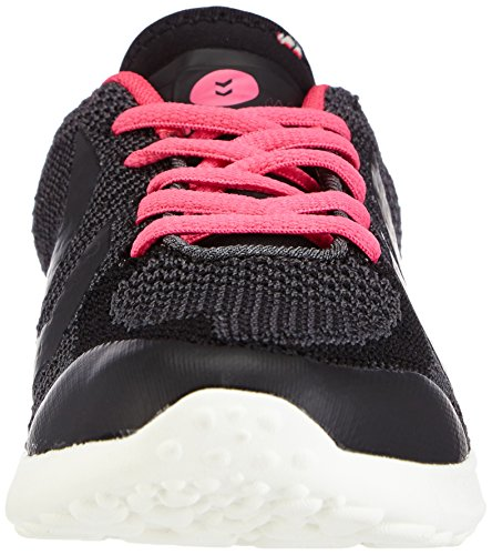 Hummel HUMMEL ZEROKNIT - zapatillas de balonmano de material sintético Unisex adulto negro - Schwarz (Black / Knockout Pink 1044)