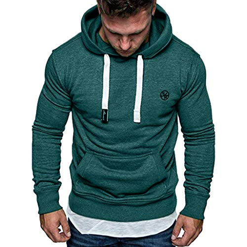 Mens Shirts Clearance Charberry Long Sleeve Autumn Winter Casual Sweatshirt Hoodies Top Blouse Tracksuits (US-M/CN-L, E) (Tracksuit Logo)