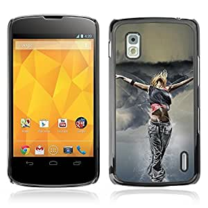 Graphic4You Blonde Girl Dancing Flying Design Hard Case Cover for LG Nexus 4
