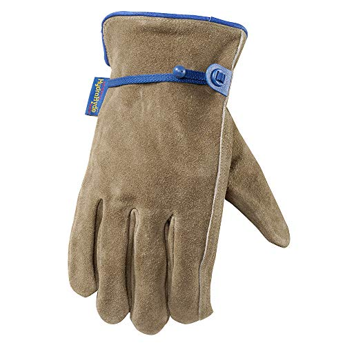 Wells Lamont Leather Work Gloves, HydraHyde, Suede Cowhide, Medium (1014M)