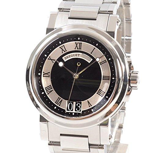 [ブレゲ]Breguet 腕時計 マリーンラージデイト 5817ST/92/SMO 中古[1303005]ブラック 付属:国際保証書 ボックス B07DPDD3R1