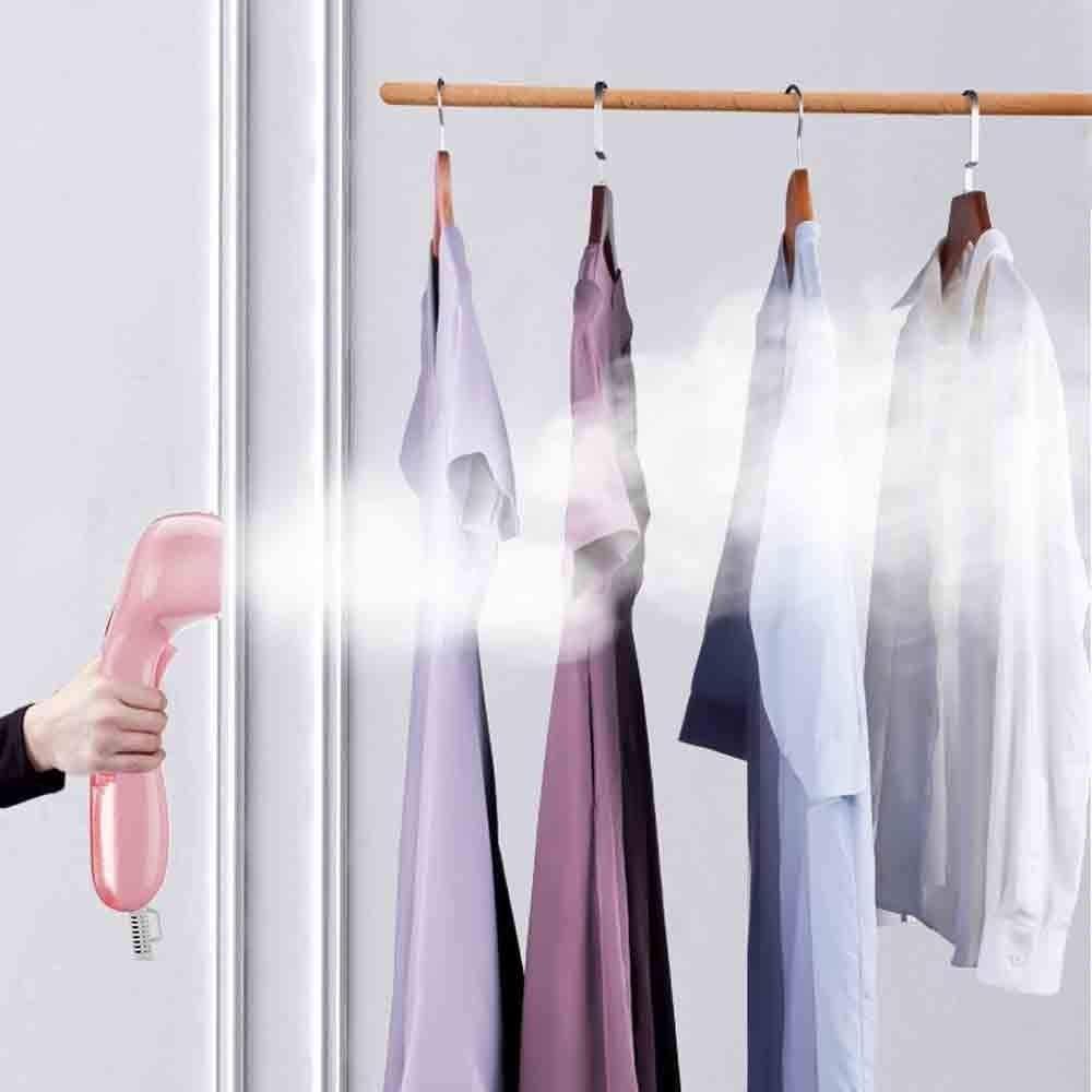 XiuHUa Hanging Machine à Repasser, Machine à Repasser ménage Suspendu Portable, Petit Fer Voyage Portable Hanger Steam Voyage (Color : Pink) Pink