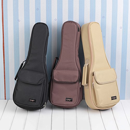 HOT SEAL Waterproof 20MM Classic Super Thick Durable Colorful Ukulele Case Bag with Large Storage (21in, - Usps To Package Canada Track