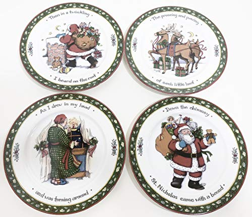 """A Christmas Story"" Set of 4 Salad Plates - 8"" Fine Porcelain - by International China"