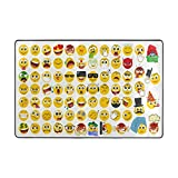Cooper girl Emoticon Emoji Area Rug Indoor/Outdoor 6x4 Feet Home Decorative Traditional Rug