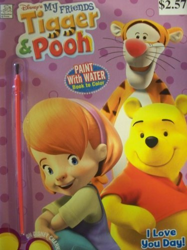 Disney's Tigger and Pooh Paint with Water Coloring Book (Coloring Book Paint compare prices)