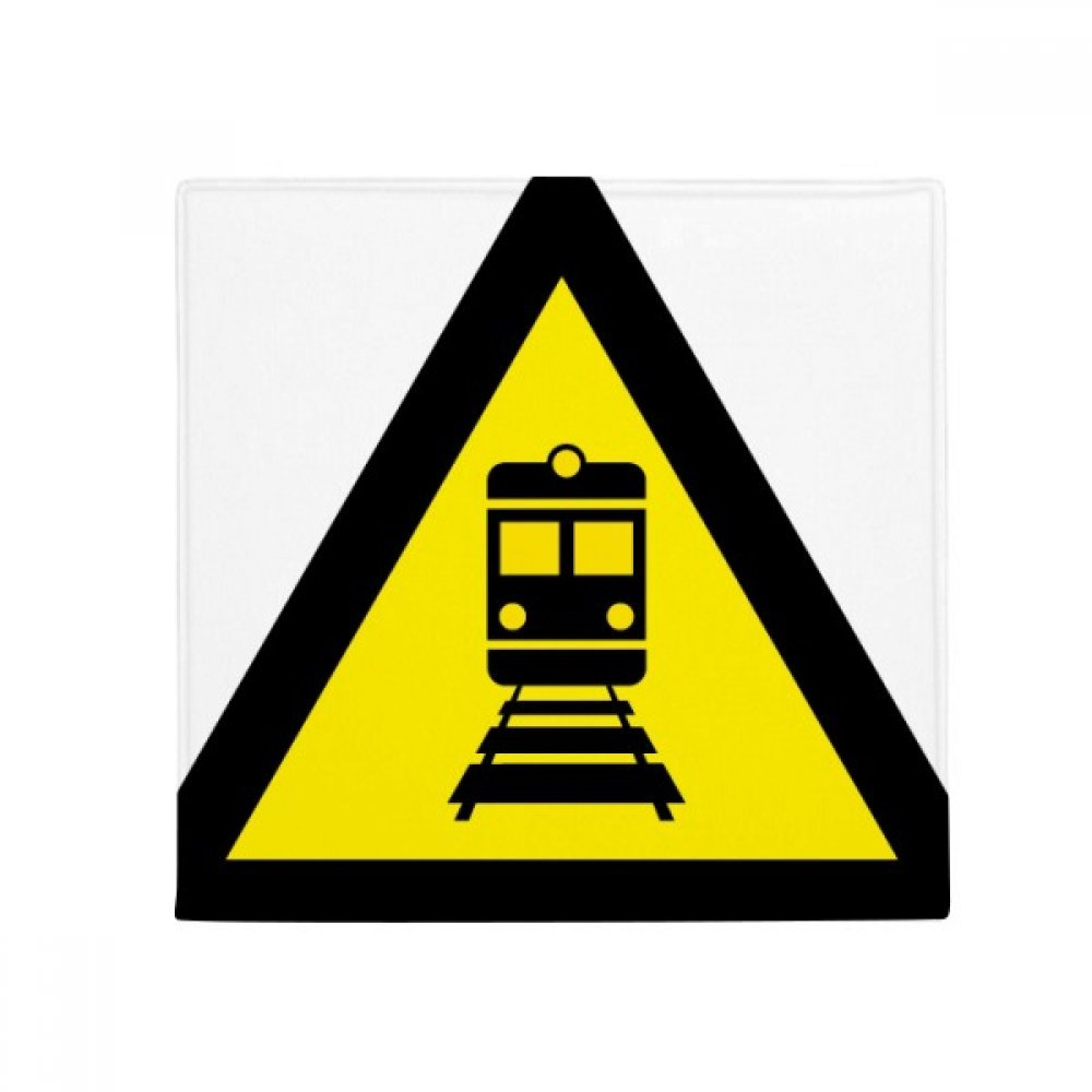 DIYthinker Warning Symbol Yellow Black Train Triangle Anti-Slip Floor Pet Mat Square Home Kitchen Door 80Cm Gift