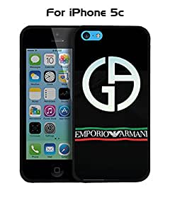 Armani Iphone 5c Funda Case, Brand Logo Customized Solid Plastic Durable Rugged Anti Dust Fit for Iphone 5c