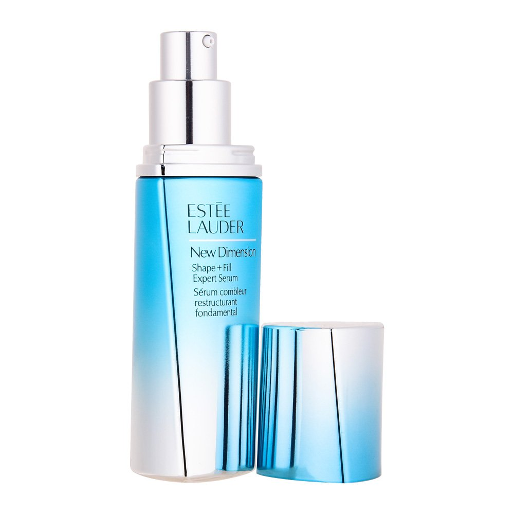 2 Pack - Estee Lauder New Dimension Shape & Fill Expert Serum 1.7 oz USA ZGTS Titanium 192Pin Micro Needle Beauty Wrinkles Scars Acne Derma Roller (0.75mm)