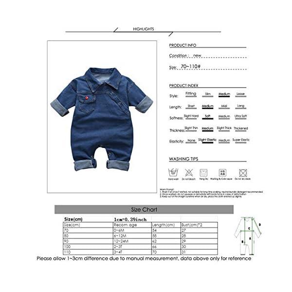 greatmtx - Tutina per neonato, in jeans 7