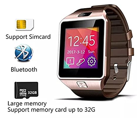 147722c48d5d EasySMX DZ09 Bluetooth Smart Watch with SIM Card Slot Make Phone Calls  2.0MP Camera Support