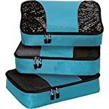 eBags Medium Packing Cubes for Travel - 3pc Set - (Aquamarine)