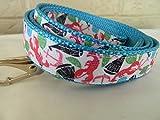 """Schmoopsie Couture Preppy Nautical Theme Dog Leash (1"""" x 60"""")"""