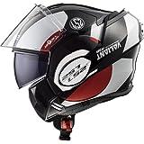 LS2 Motorradhelm VALIANT AVANT, Weiß/Schwarz/Rot, Größe L