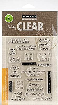 Hero Arts Weird and Wonderful Clear Unmounted Rubber Stamp Set (CM239)