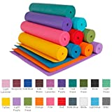 """Bean Products Yoga Mat 1/4"""" Extra Thick High Density 72"""" Length - Clean PVC (TM) Phthalate Free PER - Sky Blue"""