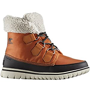 SOREL Women's Cozy Carnival Boot Caramel/Black 9.5