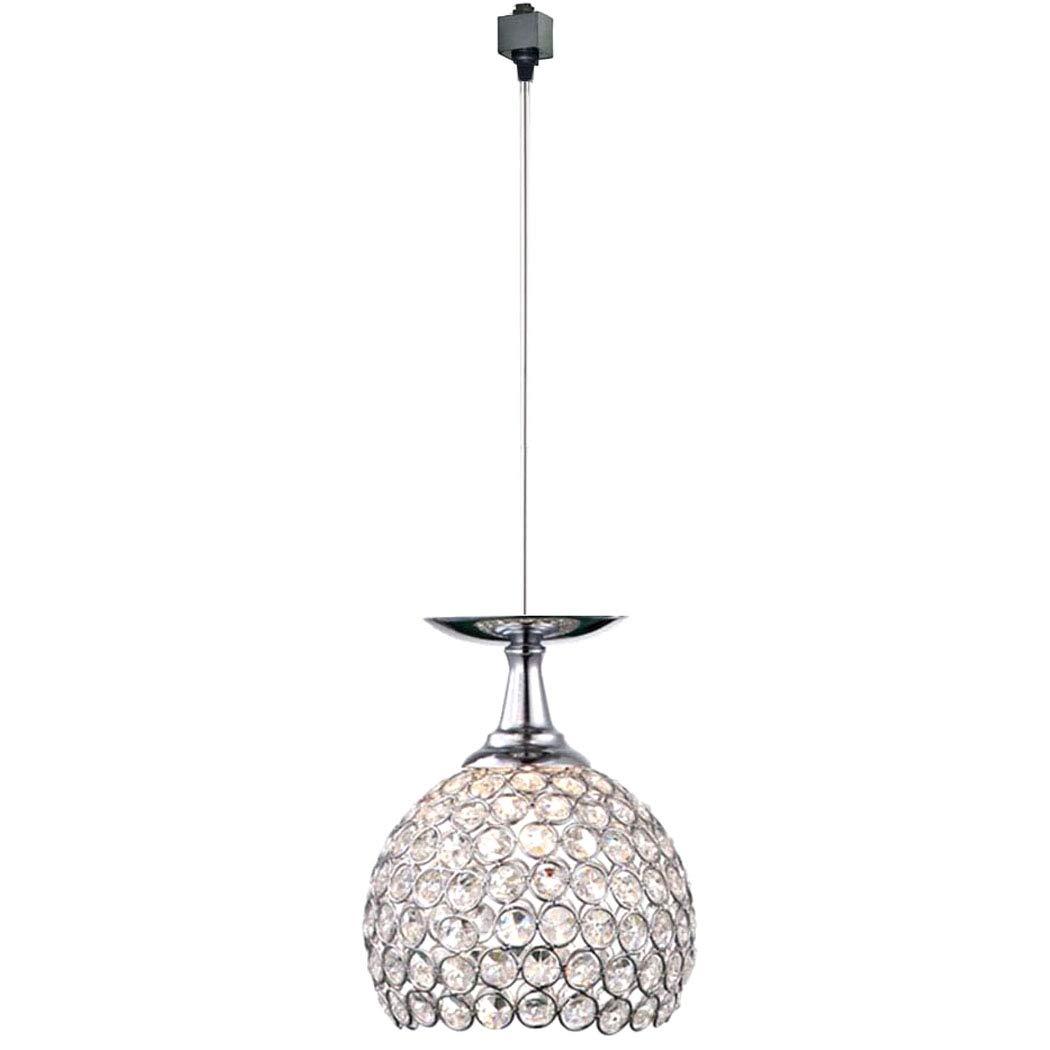 KIVEN Crystal and Chrome Brilliant 5.9'' Pendant Light - H-Type Track Lighting Pendant lamp,Bulb Not Include,One Light (TB0295)