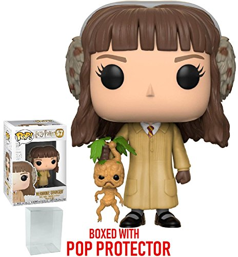 Funko Pop! Movies: Harry Potter - Hermione Granger (Herbology) Vinyl Figure (Bundled with Pop Box Protector Case)