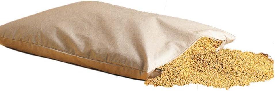 Bio Hirsekissen mijo cáscaras almohadas 40x60 cm con cierre de cremallera