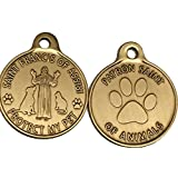 Saint Francis of Assisi Patron Saint Of Pets / Protect My Pet Bronze Dog Cat Tag Charm by RecoveryChip