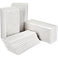 Essentials Ht3000 Asciugamani Ripiegati a C, 2 Veli, Bianco, 2400 Pezzi