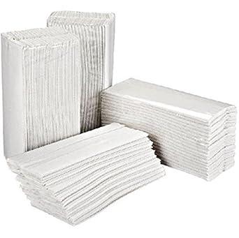 Essentials HT3000 - Pack de 2400 toallas de mano plegadas en C, 2 capas, color blanco: Amazon.es: Industria, empresas y ciencia